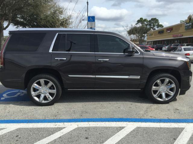 2015 Cadillac Escalade Premium 4wd Dark Granite Metallic With Jet Black Interior