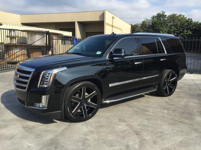 2015 Cadillac Escalade Standard 2wd With Custom 24 Wheels Lowered