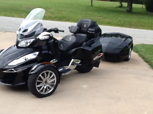 2015 can am spyder rt limited trike with can am freedom trailer