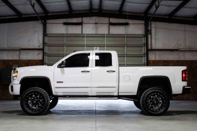 Lifted Gmc Sierra >> 2015 Extended Cab Used EcoTec3 5.3L V8 Automatic 4WD White
