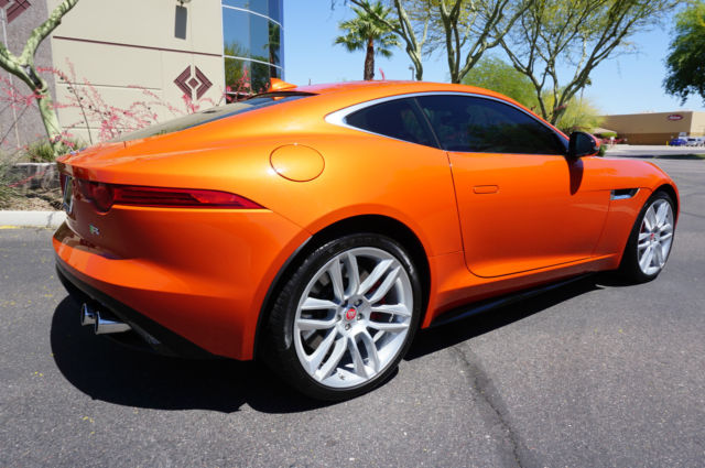 2015 Firesand Orange Ftype R V8 Clean Carfax Low Miles