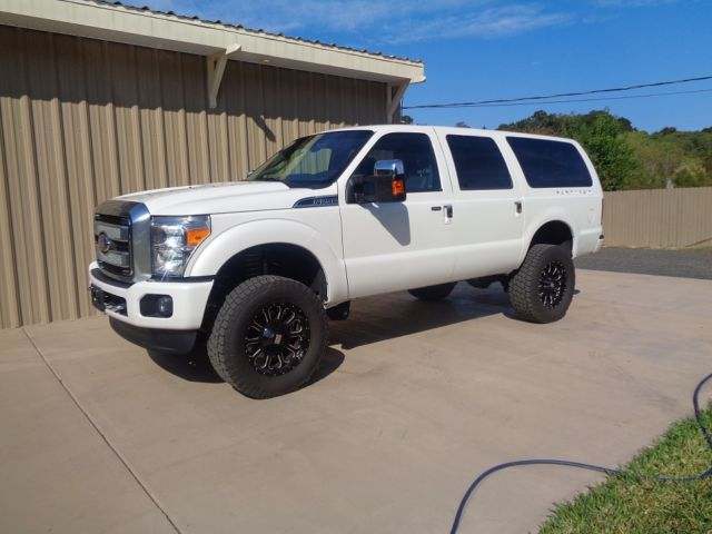 Ford Excursion 2015 >> 2015 Ford Excursion Platinum 4x4 Diesel 6 7 Pearl White Financing