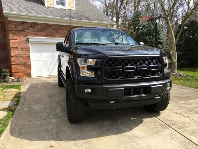 "2015 Ford F-150 4x4 6"" Lift 35s, Leather, 2017 Raptor look ...2015 Ford Raptor Lifted"
