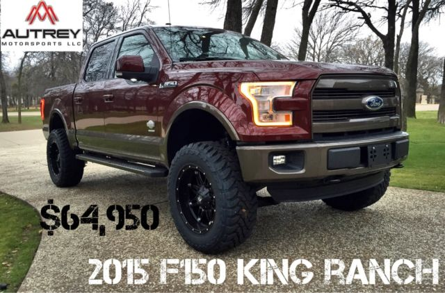 F150 King Ranch Seats >> 2015 Ford F150 King Ranch Bronze Fire 4×4 Supercrew Lifted