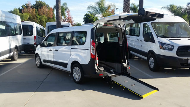 a3ca0d73f0 2015 Ford Transit Connect XL Wheelchair Van with Rear Entry Manual Ramp 2.5L