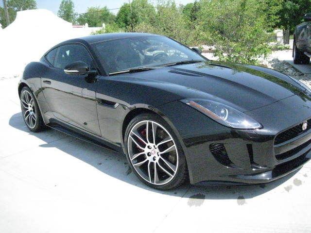 2015 jaguar f type r coupe 2 door 5 0l black 3300 miles. Black Bedroom Furniture Sets. Home Design Ideas