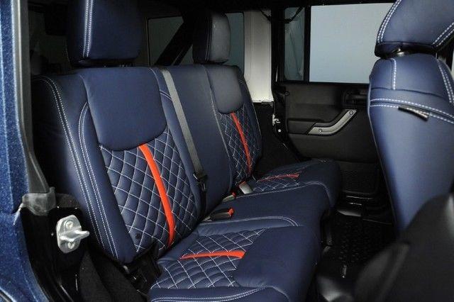2015 Jeep Wrangler Unlimited Leather Seats Custom Hood