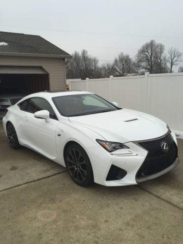 2015 Lexus Rc F Ultra White Red Interior Awesome Car Just Like New Low Miles