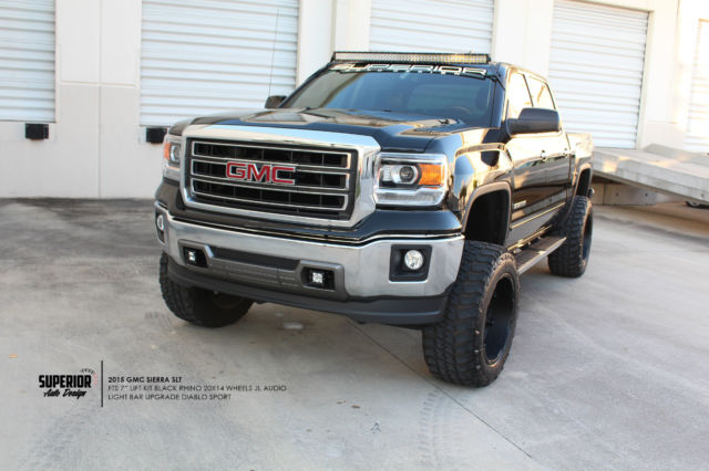 "Lifted Gmc Sierra >> 2015 LIFTED GMC SIERRA 1500 SLT 7"" FTS LIFT KIT, 35"" TIRES ..."