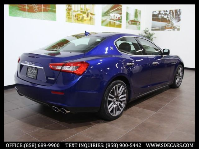 2015 Maserati Ghibli Blue Emozio Apollo Wheels 4k MIles