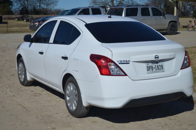 2015 Nissan Versa White 4 Door Tinted Windows 5 Speed
