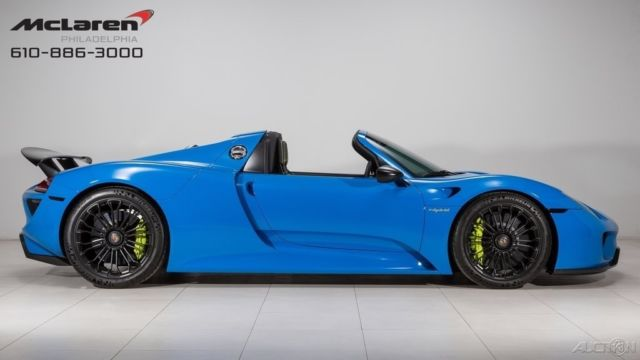 2015 porsche 918 spyder voodoo blue wrap. Black Bedroom Furniture Sets. Home Design Ideas