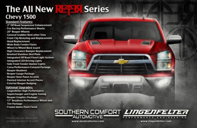 Chevy Reaper For Sale >> 2015 REAPER Lingenfelter Supercharged Chevy Silverado LTZ Z71 Crew Cab 4x4