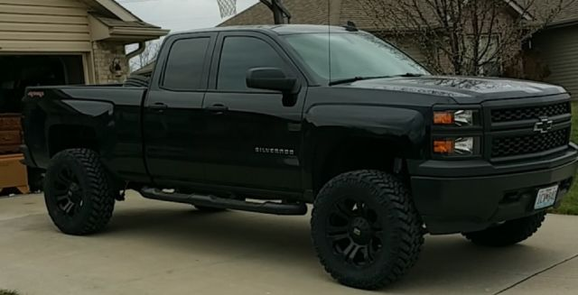 2015 Silverado Double Cab Lifted 35s Black Out Edition