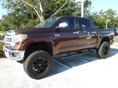 2015 tundra crew 4x4 1794 edition custom wheels tires pro comp lift as new. Black Bedroom Furniture Sets. Home Design Ideas