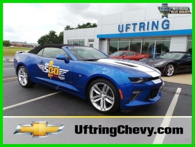 2016 Camaro Indy 500 Festival Pace Car 2ss Auto No Reserve
