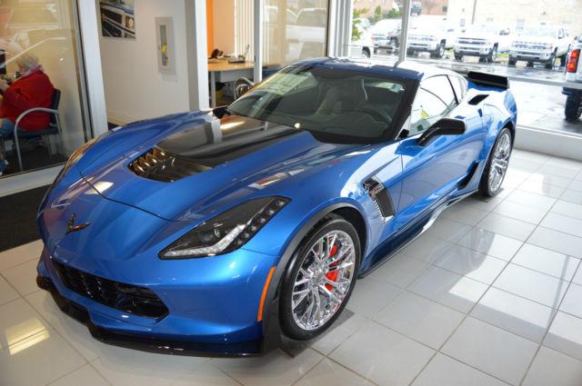 2016 chevrolet corvette z06 coupe 7 speed z07 pkg dual tops 3lz 2 mi laguna blue. Black Bedroom Furniture Sets. Home Design Ideas