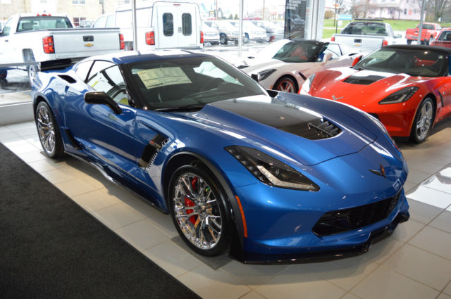 Corvette Zo7 >> 2016 Chevrolet Corvette Z06 Coupe 7 Speed Z07 Pkg Dual Tops 3LZ 2 mi Laguna Blue