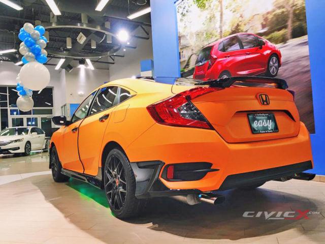 2016 Custom Honda Civic Lx 2 0 Wrapped In Orange Matte