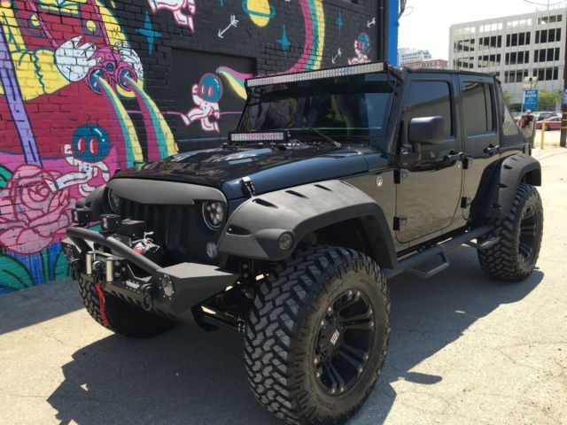 2016 Custom Jeep Wrangler Unlimited Black Edition
