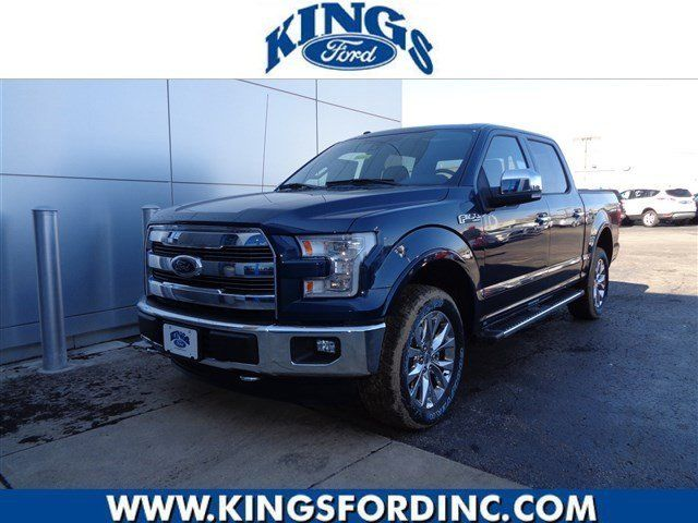 2016 ford f 150 lariat 4 miles blue jeans metallic crew cab pickup v8 5 0l autom. Black Bedroom Furniture Sets. Home Design Ideas