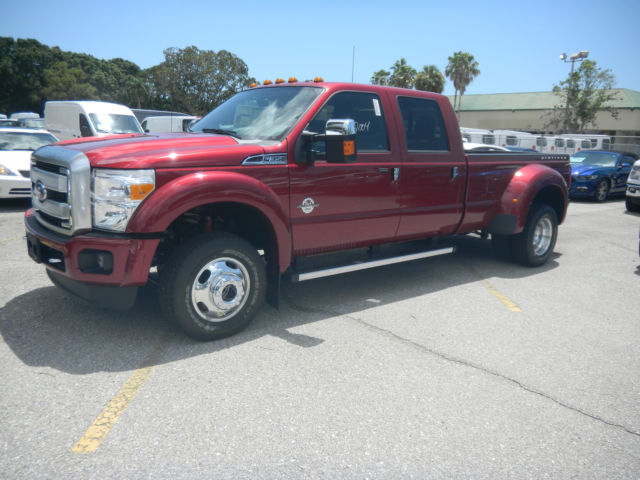 2016 Ford F 350 Platinum Dually Navigation 5th Wheel Prep Package Ruby Red New