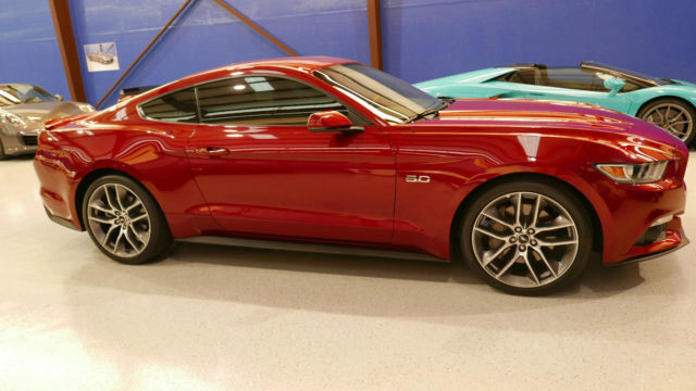 2016 ford mustang gt 5 0 ruby red metallic tinted cc ebony leather trim pwr seat. Black Bedroom Furniture Sets. Home Design Ideas