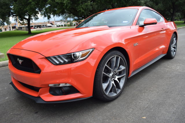 2016 Ford Mustang Gt Compeion Orange Carfax Certified 1 Owner 4 294 Miles