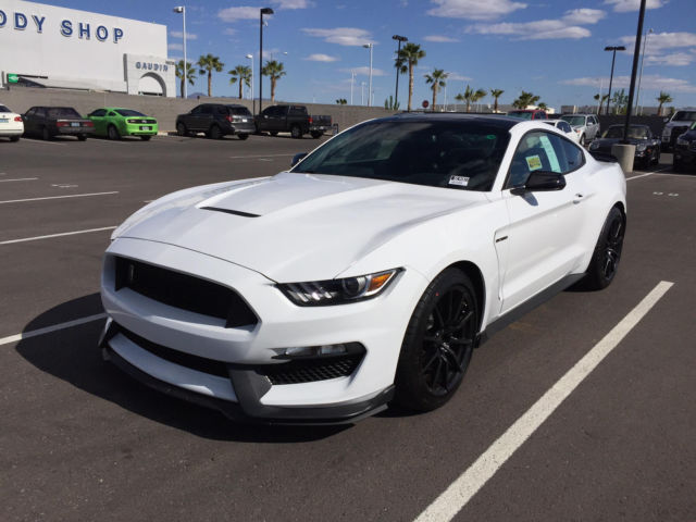 2016 Ford Mustang Shelby Gt350 White With Track Pack Painted Black Roof New