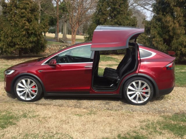 2016 founders tesla model x p90d signature red rare collectable vin 68. Black Bedroom Furniture Sets. Home Design Ideas