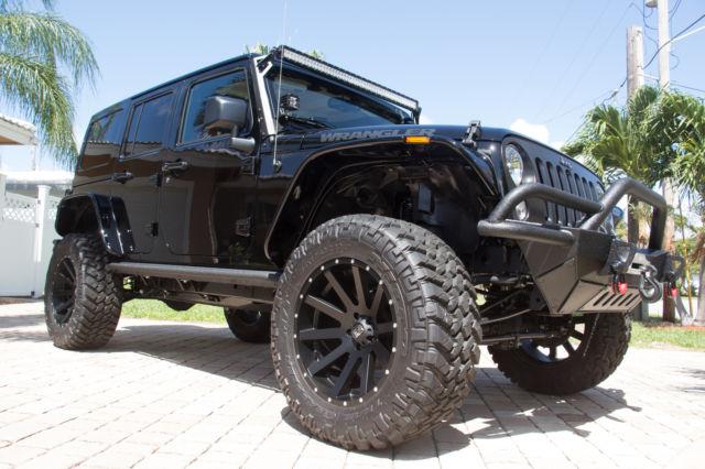 2016 jeep wrangler unlimited custom black bear limited edition new