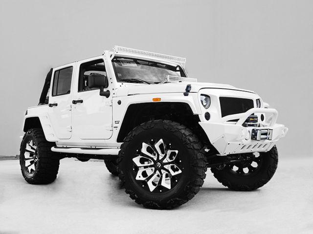 2016 jeep wrangler unlimited nav leather custom white interior