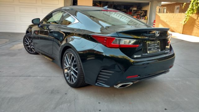 2016 lexus rc 350 f sport black with red interior mark levinson stereo system. Black Bedroom Furniture Sets. Home Design Ideas