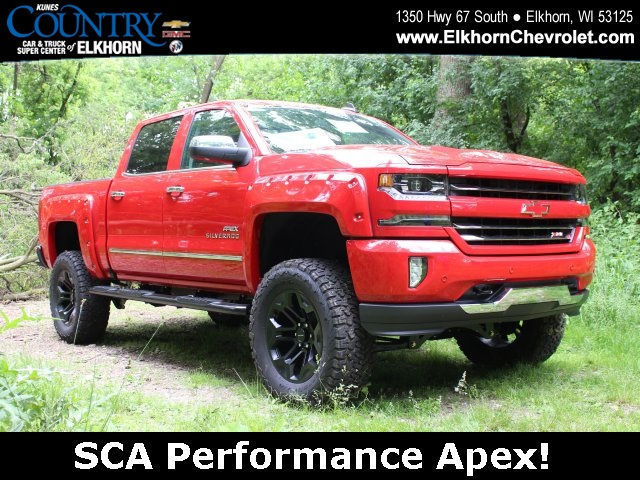 2016 silverado sca lifted truck 5 3l v8 automatic 8 speed 4wd leather red hot. Black Bedroom Furniture Sets. Home Design Ideas