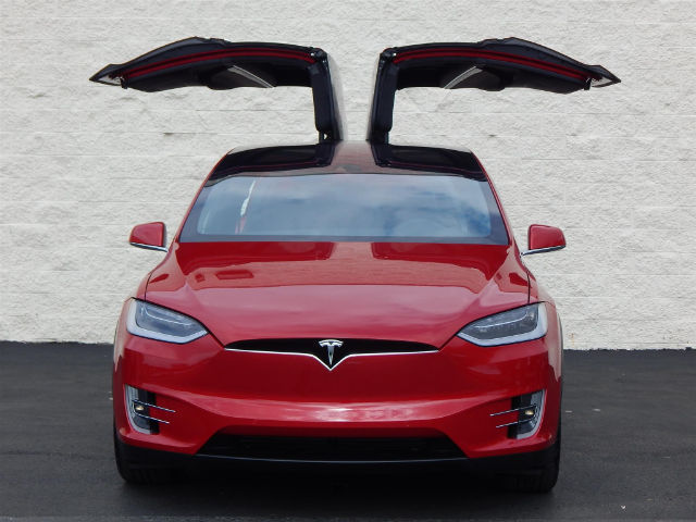 2016 SUV Tesla X New Automatic Electric AWD Leather Red ...