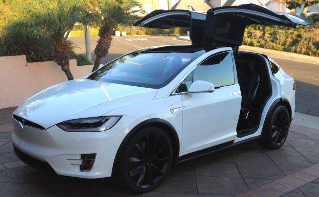 2016 Tesla Model X 90d White With Black Interior 22 Quot Onyx
