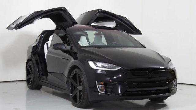 2016 Tesla Model X P90d Black White Air Suspension