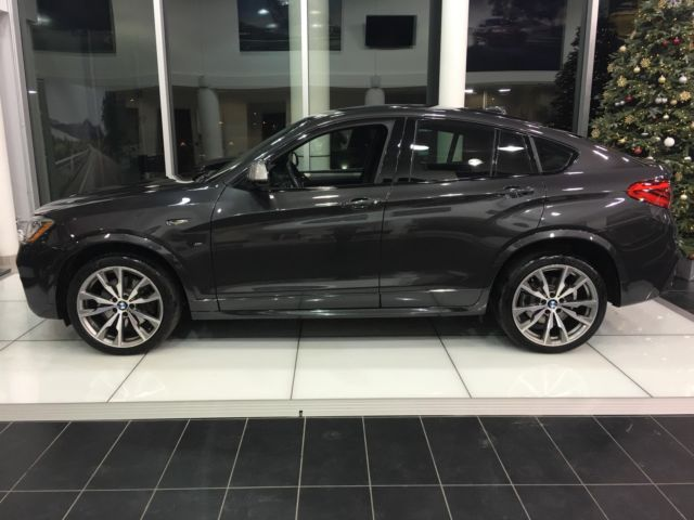 2017 BMW X4 M40i 8750 Miles Dark Graphite Metallic Sport Utility Straight 6 Cyl