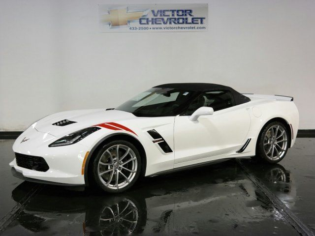2017 Convertible Corvette 8 Sd Automatic White Grand Sport Chevrolet Stingray