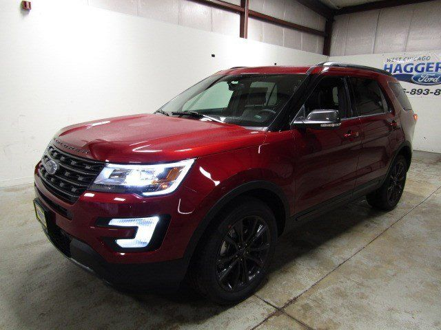 2017 Ford Explorer Xlt 4wd 202a Sport V6 41 Miles Ruby Red Metallic Tinted Clear