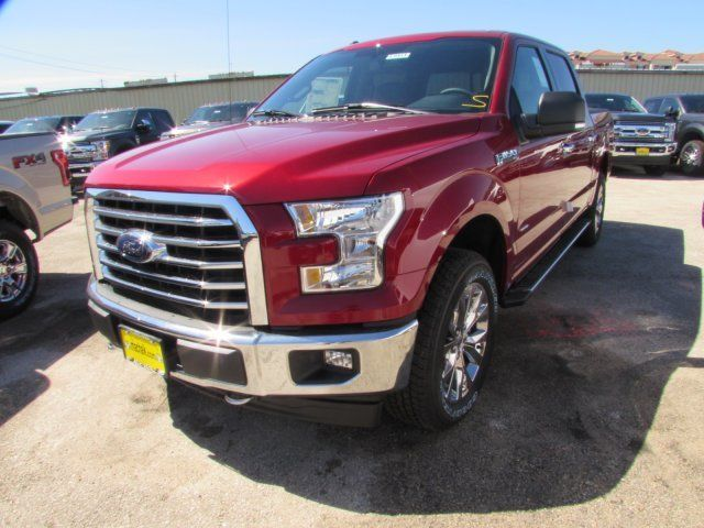 2017 Ford F150 Xlt 5 Miles Ruby Red Metallic Tinted Clearcoat Crew Cab Pickup Tw