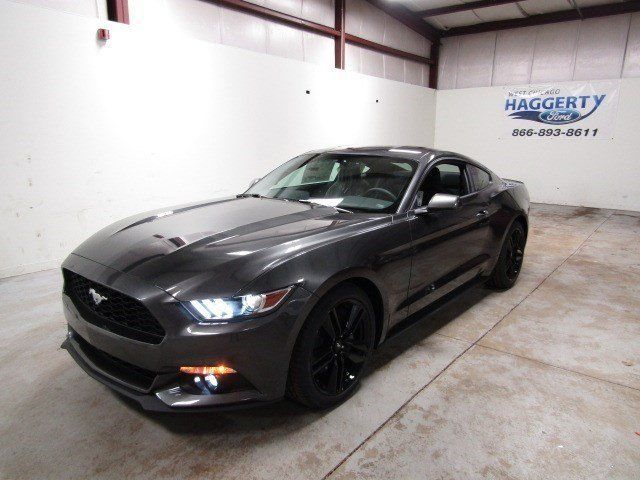 2017 Ford Mustang Ecoboost Performance Package 7 Miles Magnetic Metallic 2dr Car
