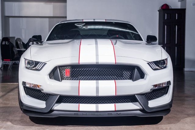 2017 Ford Mustang GT350R in Avalanche Gray. Full frontal PPF.
