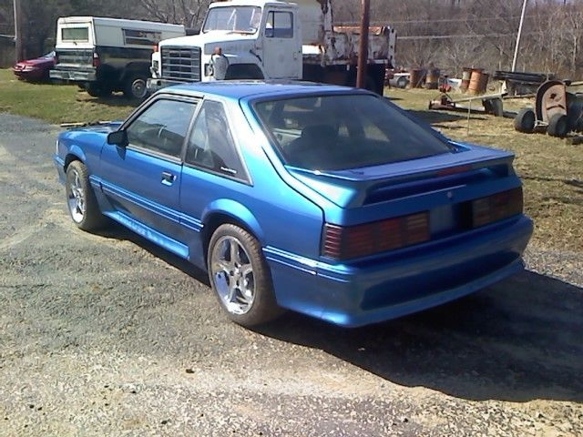 91 Mustang Gt 5 Speed Ultra Blue Aftermarket T5 E303 Cam