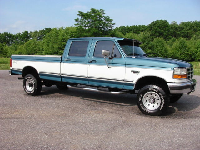 95 ford f350 xlt 4wd crew 7 3 powerstroke diesel 1 ton western rust free mint. Black Bedroom Furniture Sets. Home Design Ideas