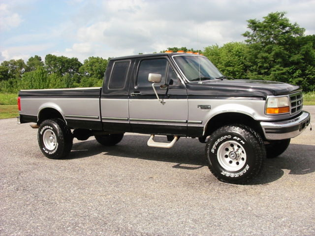 97 Ford F250hd 4wd Xlt Ext 7 3 Powerstroke Diesel Rare 5 Speed Colorado Cherrry