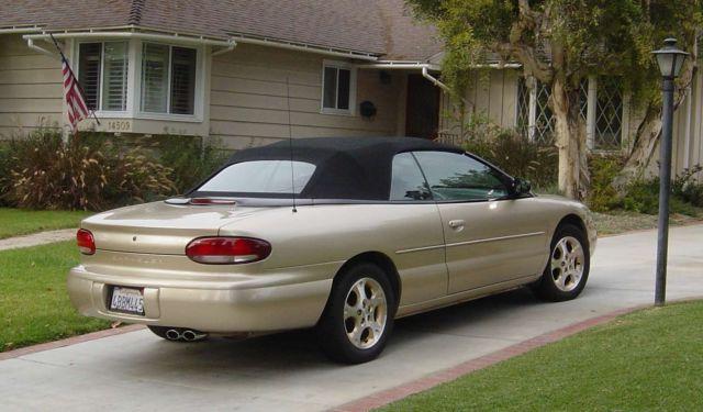98 Chrysler Sebring Convertible Gold W Black Int Top Extraordinary Condition