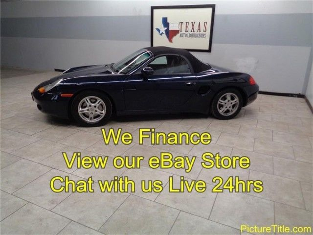 99 Boxster Roadster Leather Tiptronic Only 66K Alloy Wheels We Finance Texas