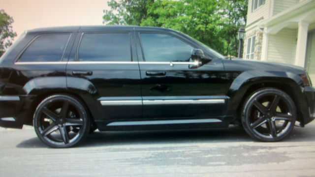 All Black 2008 Jeep Grand Cherokee Srt8 22 Rims Exhaust And Camm