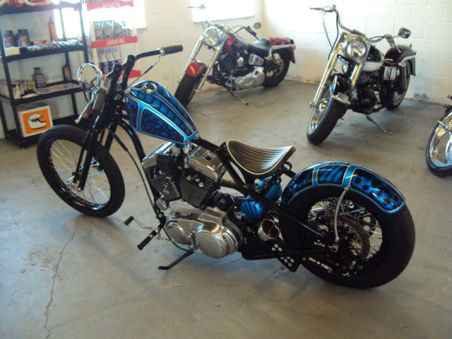 Awesome Custom Harley Davidson Sportster Chopper on Sportster Plug Wires
